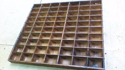 Primitive Old ANTIQUE wooden cubby shadowbox tray shelf NEAT!