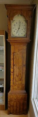 Antique Luman Watson Tall Case Grandfather Clock Wooden Work circa 1816