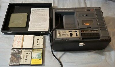 Sharp RD-680AV Cassette Tape Recorder Excellent conditon with tapes
