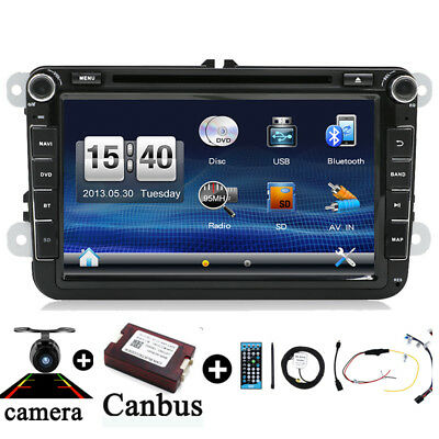 "8"" Autoradio 2DIN Bluetooth GPS Sat Navi DVD Für VW PASSAT GOLF 5 6 POLO Caddy"