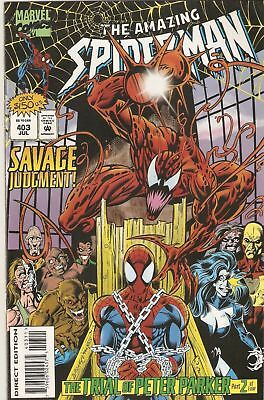 Amazing Spider-Man (Marvel Comics, 1995) #403 VF/NM Carnage Newsstand Cover