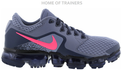 367ef8c1b66c2f Nike Air Vapormax Dark Sky Blue Racer Pink Junior Boys Girls Trainer All  Sizes
