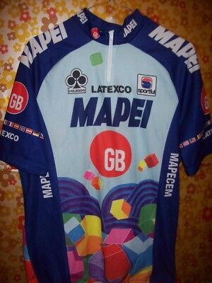Vintage Cycling jersey shirt '80s Mapei colnago maglia bici ciclismo