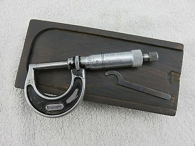 "Starrett 436-1 Outside Micrometer 0-1"" Vintage Made In USA"
