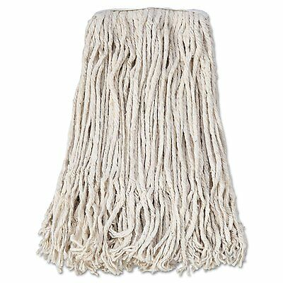 Case of 12 Boardwalk CM02024S Mop Head, Cotton, Cut-End, White, 4-Ply, #24 Band