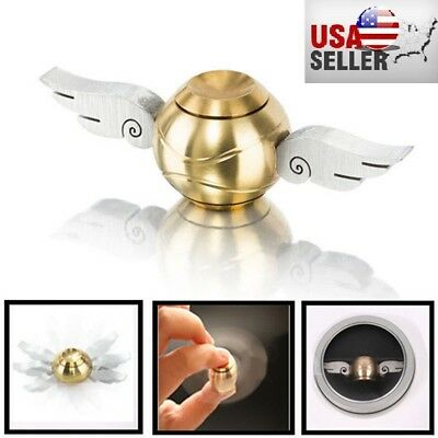 Harry Potter Golden Snitch Hand Fidget Spinner Wings Stress Relief Toy US Seller