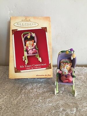 Hallmark Keepsake Ornament My First Christmas 2003 QXG5671 Cat Stroller Keepsake