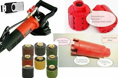 Wet Polisher Polishing grinding drum sink hole cutter 11 Piece grnite stone DVD