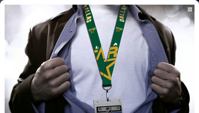 Dallas Stars Lanyard, Green with Jumbo Logos