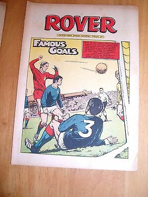 Scotland 5 Wales 3 1969 Ron Davies Goal Cover + Horse Racing Feature Rover 1969