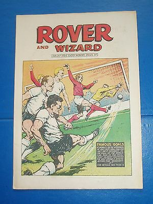 World Cup Final 1966 Weber Germany Goal Cover Rover Comic 1969 & School Colours