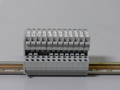 Lot of 12 Wago 281 800V 4mm Terminal Blocks