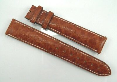 New Baume & Mercier brown leather wrist watch strap band 18mm