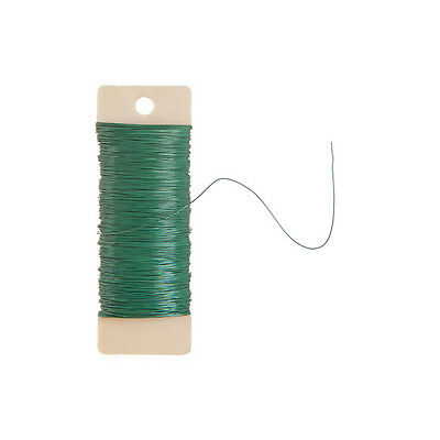 Floral Paddle Wire - 22 gauge - Green - 38 yards fnt