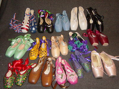 15 Pairs of  Ballet Toe Pointe Shoes - different brands FREE SHIPPING IN USA