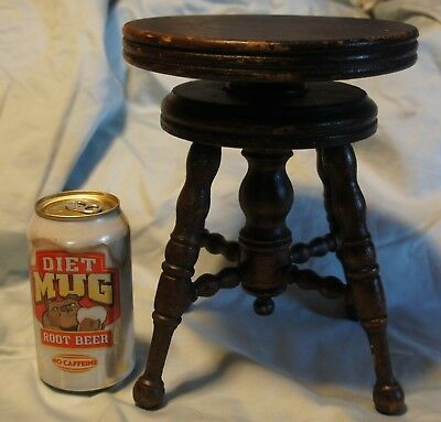 ANTIQUE Childs Victorian Rotating Screw Top Piano Stool Fresh Estate Find ORGAN