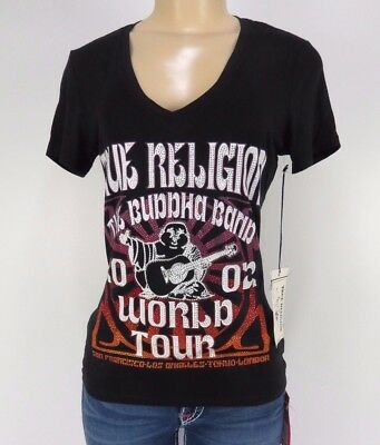 daebfbd2cf NWT True Religion Womens T-Shirt BUDHA BAND V Neck Tee