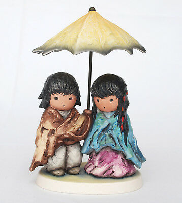 "GOBEL,  DeGRAZIA ""SUN SHOWERS"" Indian Children, 1989 Limited Edition 687/5000"