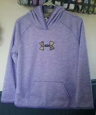 Under Armour  Hoodie Youth  XL Girls Purple Camo Hooded Pullover Jacket