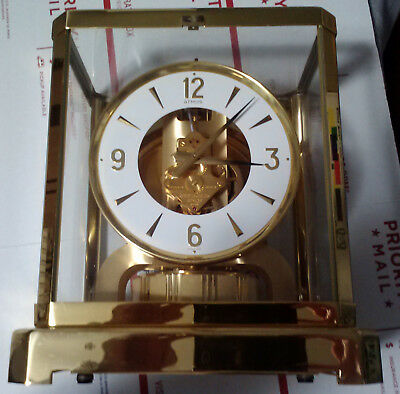 Atmos Jaeger LeCoultre Clock 528-8 with Paperwork and Box Not Working As/Is