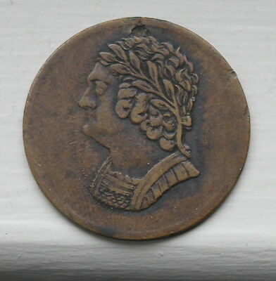 1820 Canada Bust and Harp token
