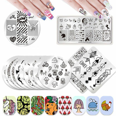 NICOLE DIARY Nail Art Stamping Plates Image Templates  Decors Collection Tools