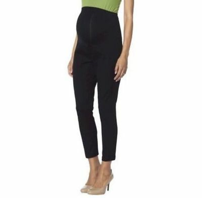 New Women's Maternity Over Belly Ankle Pants Black Liz Lange NWT Size M L