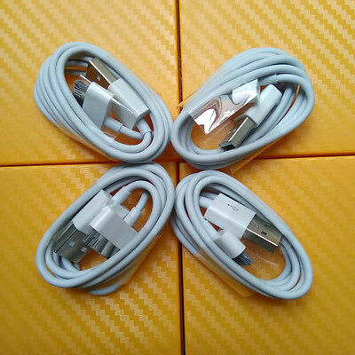 4x 30 Pin USB Data Cable Charger For Apple iPhone 3GS 4 4S 4G iPod