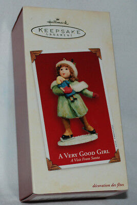 NIB Vintage 2003 Hallmark A Very Good Girl Skating Skater Christmas Ornament