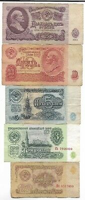 Rare Old CCCP Cold War Russian Rubles Dollar Money LENIN Banknote Collection Lot