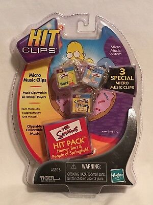 Tiger Hit Clips The Simpsons 3 Micro Music Clips Bart/Homer/People of Springfld