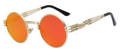 Gold Vintage Red Sunglasses