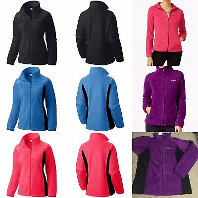 AUTHENTIC COLUMBIA WOMEN's Winter Full-Zip Fleece Jacket XS-S-M-L-XL-1X-2X-3X