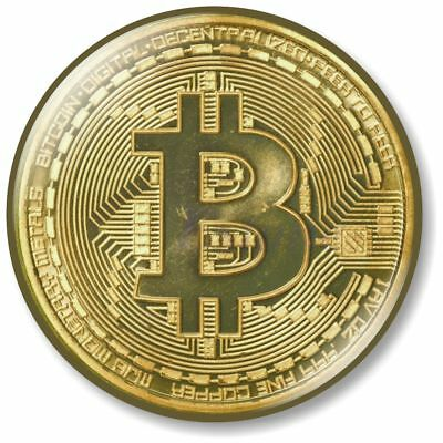 1 x Bitcoin 32mm BUTTON PIN BADGE Coin Digital Currency System Payment Ledger B