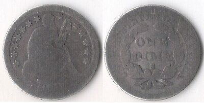1858-S Seated Dime Just Honest Wear 1858-S