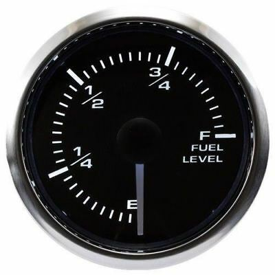 52mm Fuel Level Gauge 270 Degree Sweep Waterproof White Amber LED 0 90 ohms