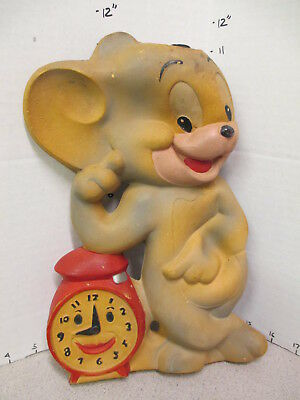 TOM & JERRY MGM 1950s cartoon mouse Duarry figural squeeze toy water bottle