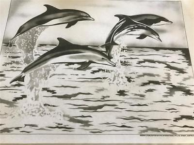 Hobby Tex - Fabric Painting  NEW CONDITION !! Sea Theme Dolphins   x 1 Big Size