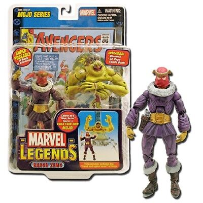 Marvel Legends  - Baron Zemo & Head/ Torso Of Mojo Figur + Comic  - Neu/ovp