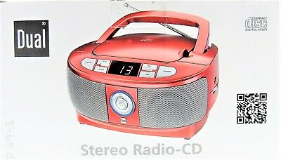 CD Player CD-Radio Boombox DUAL P49-1 Stereo ROT Tragbarer