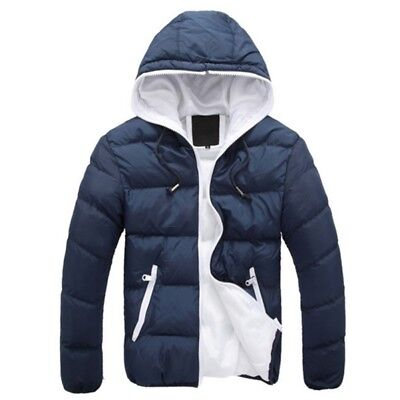Mens Winter Puffer Parka Cotton Coat Casual Paded Quilted Hooded Jacket 4XL USA