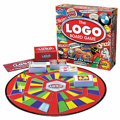 The Logo Board Trivia Game Fun For Whole Family 2-6 players aged 12 to Adult New
