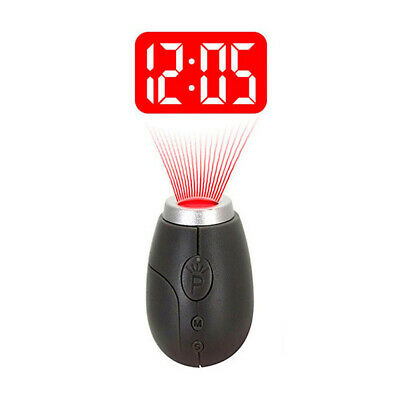 Fashion Mini Projection Clock Lamp Key Ring Red Light Keychains Ball Gifts