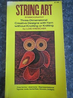 Vintage 1970's String Art Symmography Book - Three Dimensional Creative Designs