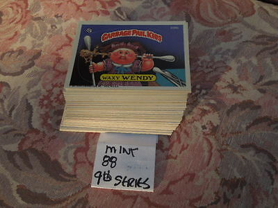 1987  87  Garbage Pail Kids GPK USA Series 9  complete Set 88 cards Nr-MINT!