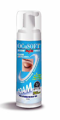 Ocusoft Plus 50ml Eyelid cleaning foam make up remover Scope