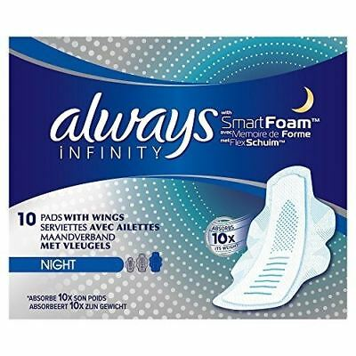 Always Infinity Night Sanitary Towels With Wings 10 Pads 1 2 3 6 Packs