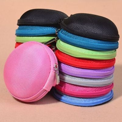 Portable Earphone Headphone Earbud SD Card Carrying Storage Bag Pouch Hard Case