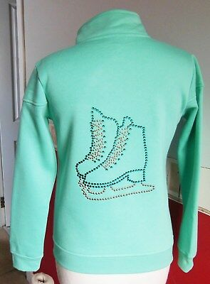 New Girl's Ice Skating Dress Jacket with Stunning Crystal Motif - Various Sizes
