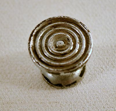 Vintage Art-Deco Aluminum Small Round Cabinet Drawer Pull Knobs